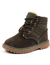 Botas de Montar para niños Zapatillas de Deporte cálidas y cómodas de Felpa cálidas y cómodas.