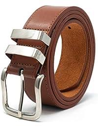 9cd9eded2261 Ossi 38mm Jean double boucle ceinture pour homme - noir, brun ou tan (82cm