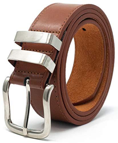Ossi 38mm cinturón piel con refuerzo tan (tamaños 81cm - 91cm)