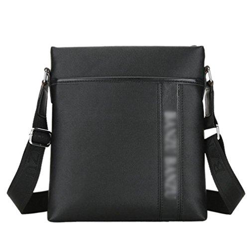 YOUJIA Herren Freizeit Umhängetasche Messenger Crossbody Tasche für Reisen Outdoor Schulschultasche (Blau) Schwarz