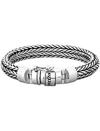 Kuzzoi, men's silver bracelet made of solid 925 sterling silver, width 11 mm, 335103