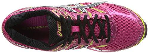 AISCS Gel-Cumulus 16, Chaussures de running Femme Rose (Raspberry/Black/Lime 2190)