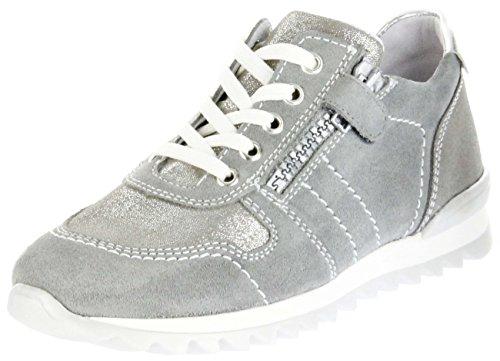 Richter Kinder Halbschuhe Sneaker Grau Velourleder Mädchen Schuhe 3729-731-6101 Tosca, Farbe:Grau, Größe:37