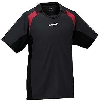 JAKO Trikot, Funktionsshirt, Herren T Shirt, Fussballtrikot, Farbe: schwarz rot