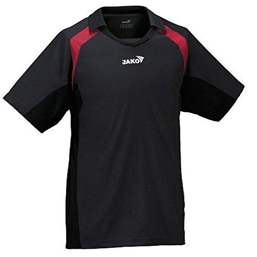 JAKO Trikot, Funktionsshirt, Herren T-Shirt, Fussballtrikot, schwarz-rot, Gr. M/L (Exklusiven T-shirt Schwarzen)
