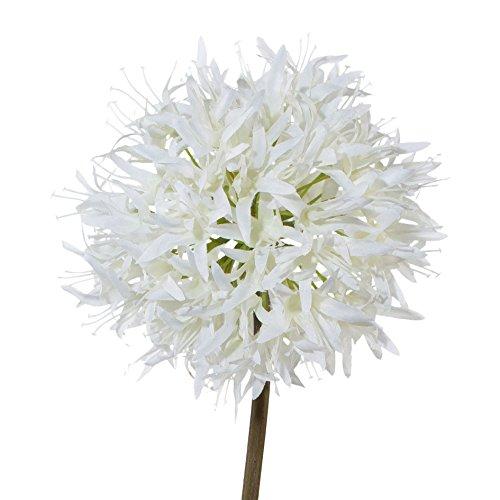 Kunstblume ALLIUM ca 70 cm. Blütenkopf ca 13 cm. WEISS