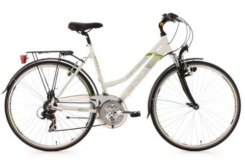 KS Cycling Damen Fahrrad Trekkingrad Alu-Rahmen Metropolis Flachlenker, Weiß, 28 Zoll, 133T