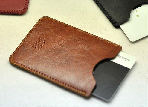 Karte Pocket Business Name Credit ID Card Case New Luxus Tasche Slim Sleeve Business Card Wallet braun braun