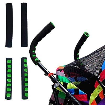Negro de la cubierta del cochecito de bebé Apoyabrazos universal elástico protector de la manga de la manija a prueba de polvo para carrito silleta, Modelos estirable Universal Fit Cochecito