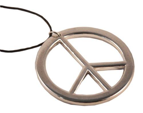 aus Metall - Ø 6cm (Hippie Peace Zeichen)