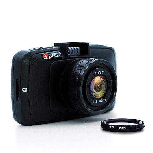 Camcorder HD for Car–junsun HD 1080P 60FPS Car DVR Vehicle Camera with Night Vision 170° Wide Vision Lens, sensor-g, WDR