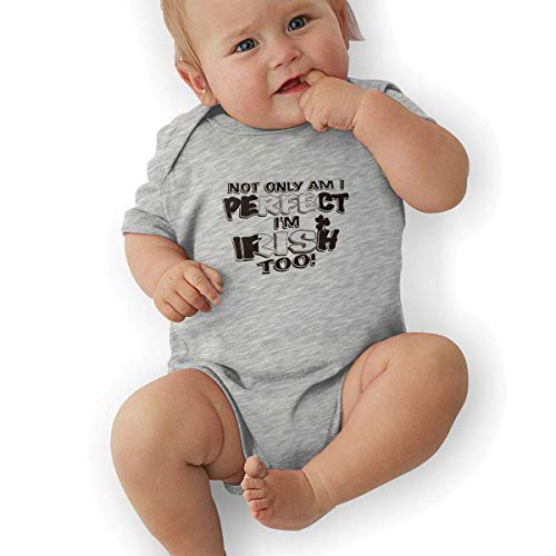 Bodys & Einteiler,Babybekleidung, Baby one-Piece Suit,Baby Jumper,Pajamas, Newborn Baby Boy's Bodysuit Short-Sleeve Onesie Not Only Am I Perfect I'm Irish Too Print Rompers Spring Pajamas -