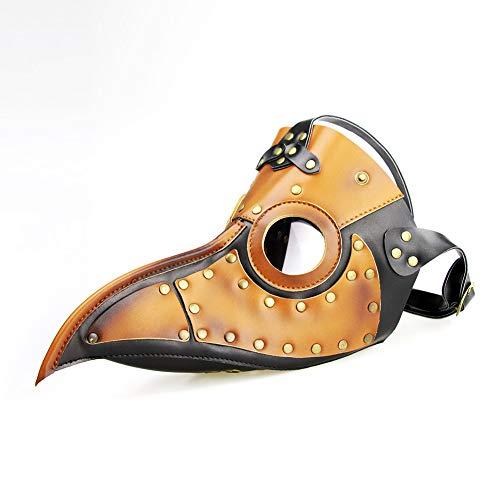 Gas Maske Zubehör Kostüm - HHSJL Plague Bird Doctor Mask Brille Gothic Maske, Rollenspiel Maske, Punk Gas Halloween Brille Zubehör Halloween Kostüm Requisiten