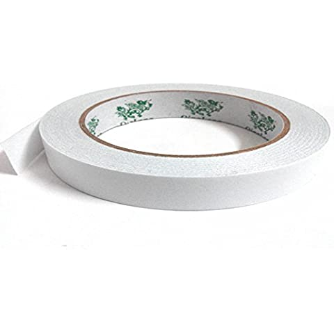 1/2 x 27 Yards Double-Sided Adhesive Sticker Tape, QingLong Premiun Permanent Double-Sided Adhesive Sticker Tape (Double Sided Foil Origami)
