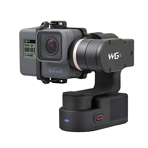Feiyu WG2 3-Axis IP67 Waterproof Wearable Gimbal for GoPro HERO5 HERO4 Session AEE SJCam and Other Similar-Sized Action Cameras Including Mini Tripod Stand and Extension Pole