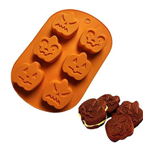 Hoxin 3D Silikon Backform, Halloween Kürbis Form Kuchen Süßigkeiten Pudding Schokolade DIY Dekoration Backenwerkzeuge (1 Stück)
