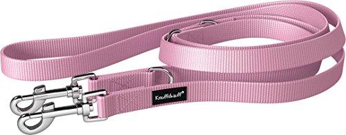 Knuffelwuff 13949-017 Nylon Hundeleine Führleine Active 210cm, 2,5cm Pink