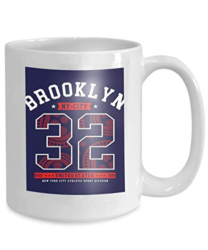 Kaffee Tee Tasse Cup athletisch Brooklyn NYC Typografie Design New York Cityhirt drucken Sport Bilder 110z - Nyc-kaffee-tasse