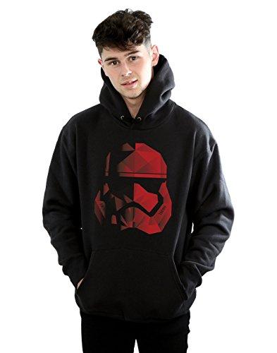 Star Wars Homme The Last Jedi Stormtrooper Red Cubist Helmet Sweat À Capuche