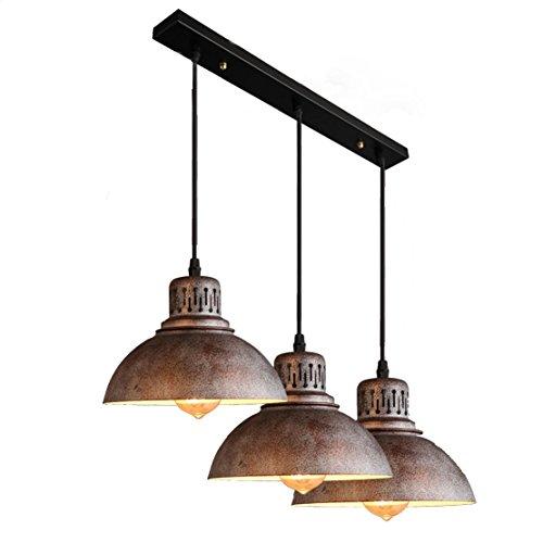 Hängeleuchte Retro Vintage Pendelleuchte Creative 3 Flammig Kronleuchter  Modern Design E27 Metall Lampenschirm Esstisch Pendelleuchten Max