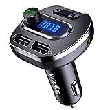 VICTSING Transmetteur FM Bluetooth, Voiture Adaptateur Radio Double USB Sans Fil...