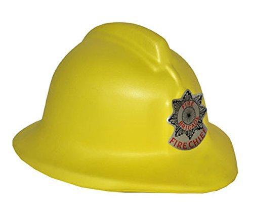 erdbeerclown - Feuerwehrhelm - Erwachsene Feuerwehr Zubehör Helm, Gelb (Feuerwehrmann Kostüm Geist)