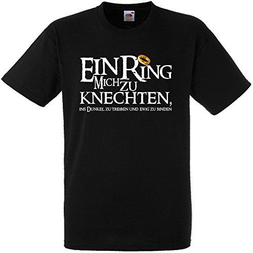 Shirtoo Herren T-Shirt ein Ring Mich zu knechten für Den Junggesellenabschied (Männer) in Schwarz, Größe L (Der Lustig Ringe-t-shirts Herr)