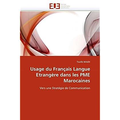 Usage du français langue etrangère dans les pme marocaines
