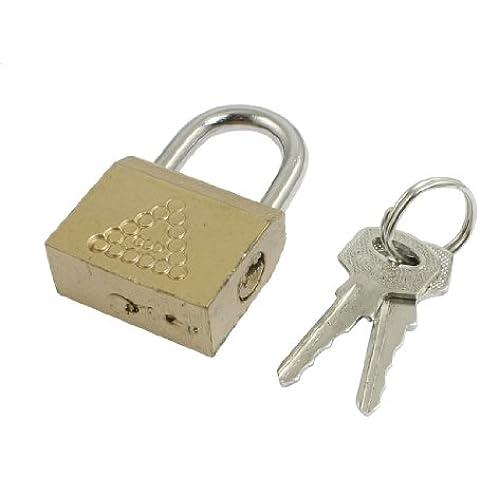 Sourcingmap - Armadietto domestico porta di monili di parte ottone di sicurezza di blocco lucchetto tono oro