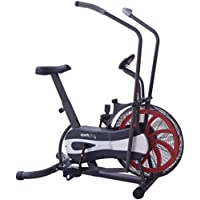 SportPlus Exercise Fan Bike – 2 in 1 Exercise Bike and Cross Trainer with Training Computer and Continuously Variable Resistance – Max. User Weight 120 kg