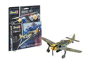 Revell- Fw190 F-8 Modelo Set Focke Wulf, Color Gris, 13.3 cm (63898)