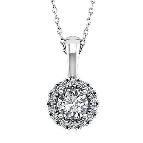 Diamond Delight 18 carats Or blanc Forme ronde G-H Diamant blanc