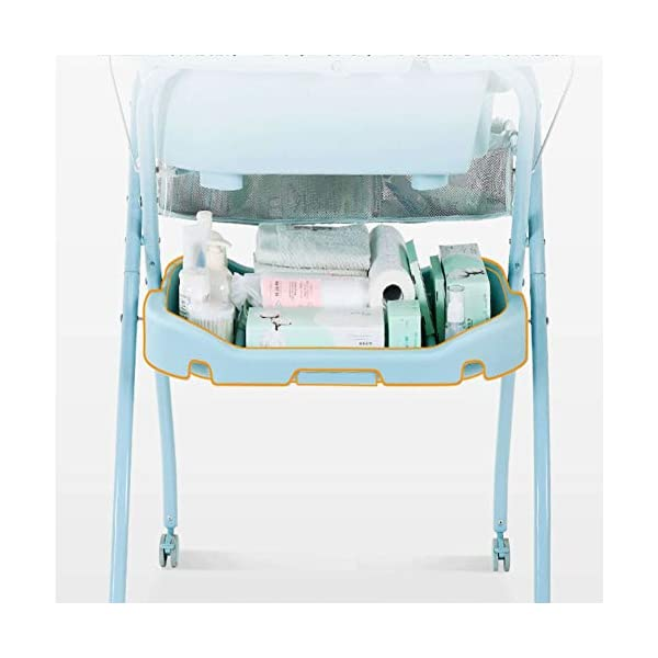 Mr.LQ Diaper Table Baby Care Table Shower Table Newborn Baby Change Diaper Massage Touch Table Foldable Mr.LQ Say goodbye to abdomen, as long as a change of diaper table, change diapers, massage care, high frequency, stand to change diapers, baby care, good waist, easy to play, more safe, safer 3D filled countertop, refusal to sign ordinary sponge, select high-resistance, high-pressure resistant erect cotton inner core, soft and hard fit the baby's body, baby is comfortable and not easy to resist Dirty and water-proof, it is clean and clean, PU leather surface, stains can be easily wiped off, more clean and hygienic 4