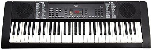 Funkey 00038126 61-Edition Keyboard (128-Sound, 128-Rhythmen, 10-Demo Song, Netzteil, Notenständer) schwarz