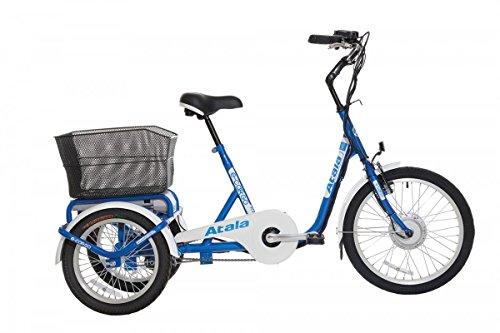 """'Atala bicicleta eléctrica e-cargo 20""""Brushless 36V ECO-LOGIC 1V Azul/Blanco (City eléctrica)"""