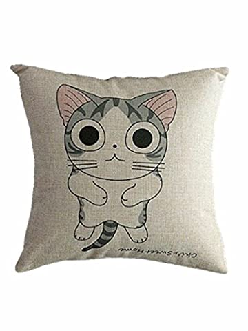 Menglihua Cute Fashion Soft Cat Print Cotton Linen Pillow Cushion