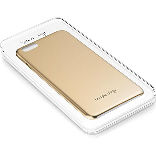 Happy Plugs Deluxe Slim Smartphone Hülle Case Cover Kompatibel mit Apple iPhone 6 und 6S  - Roségold Champagne