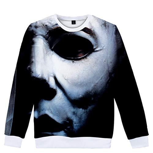 YUANOU 2019 Herren Damen Trend Michael Myers Halloween 3D Druck Jungen Sweatshirt Mode Pullover Lose Jacken Casual Hemd Tops