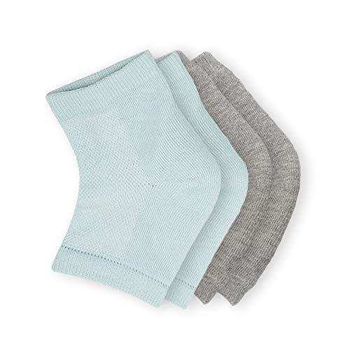 Gel Feuchtigkeitsspendende Socken Belüftete Gel Fersenärmel Fußbad Schönheitssocken Offene Zehensocken für trockene rissige Fersenreparatur 2 Paar