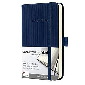 SIGEL CO576 Notizbuch, ca. A6, liniert, Hardcover, dunkelblau, Conceptum - viele Modelle