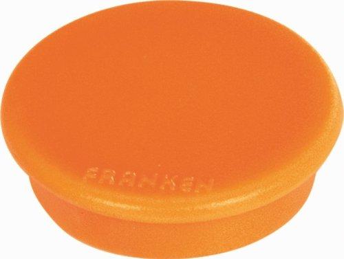 Franken HML30 05 Magnet Mag Fun (Durchmesser 32 mm, Haftkraft 800 g) 10 Stück, orange