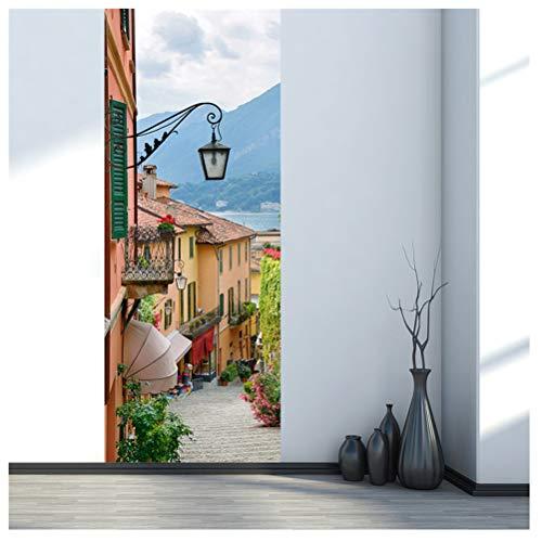 Italien, See Como-Stadtstraßentür-Aufkleber-Wandaufkleber