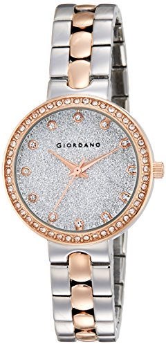 Giordano Analog Silver Dial Women's Watch- A2068-66