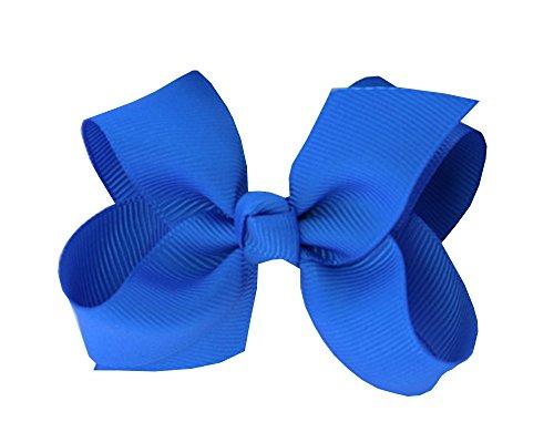 Haar-Band, 7cm–Baby Mädchen Clip Kinder Mädchen Band Schmetterling Ripsband HY Haarspangen für blau
