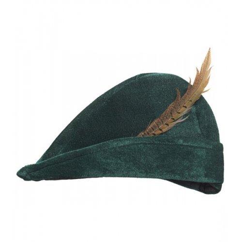Prince of Thieves Hat mit Feder für Robin Hood Mittelalter Mittelalter Fancy Kleid Zubehör