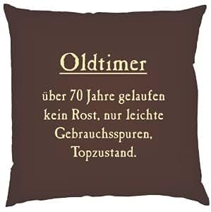 Kissen mit innenkissen oldtimer ber 70 jahre gelaufen - Deko zum 70 geburtstag ...