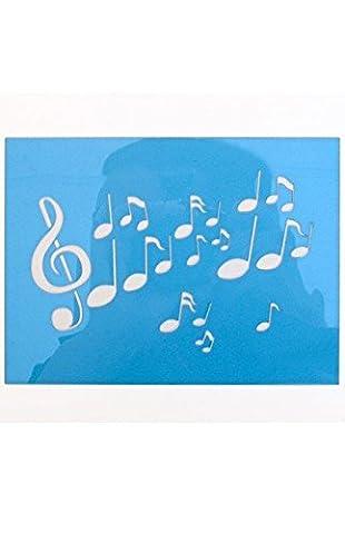 Schmink Schablone für Aqua Face und Body Make up Motiv: Musik Notenschlüssel