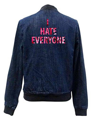 I Hate Everyone Roses Jeans Bomberjacke Certified Freak-XL