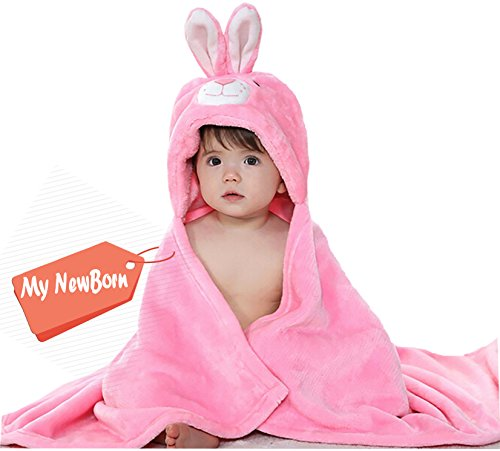 My NewBorn Baby Blanket Super Soft Trendy Flannel Hooded Wrapper For Babies