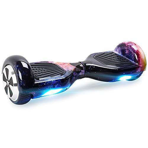 "BEBK Hoverboard, 6.5\"" Self Balance Scooter mit 2 * 250W Motor, LED Lights Elektro Scooter (Purple)"
